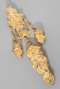 Silver Smalls:Other , A Dutch Gilt Brass Combination Chatelaine and Necessaire, circa1870. 8 inches high (20.3 cm). ...