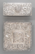 Silver Holloware, American:Desk Accessories, A Jacobi & Jenkins Silver and Glass Encrier with Ink Blotter,Baltimore, Maryland, circa 1900. Marks: STERLING, JACOBI &J... (Total: 3 Items)