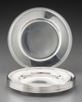 Silver Holloware, American:Plates, Six Tiffany & Co. Silver Bread and Butter Plates, New York,circa 1924-1947. Marks: TIFFANY & CO, 20198 MAKERS 2566,STERL... (Total: 6 Items)