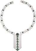 Silver & Vertu:Smalls & Jewelry, A William Spratling Mexican Silver and Azure Malachite Necklace, Taxco, 1950. Marks: SPRATLING, SILVER, MADE MEXICO, (ea...
