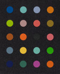 Fine Art - Work on Paper:Print, Damien Hirst (b. 1965). Methylamine-13C (Black), 2014.Screenprint in colors with diamond dust . 32-3/4 x 27 inches (83...