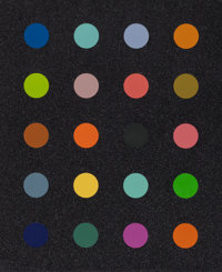 Damien Hirst (b. 1965) Methylamine-13C (Black), 2014 Screenprint in colors with diamond dust 32