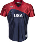 Autographs:Jerseys, 2000's Jennie Finch and Others Multi-Signed United States SoftballJersey. ...