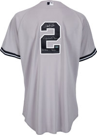 2011 Derek Jeter Game Worn New York Yankees Jersey Signed by  f670c8bad2f