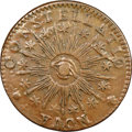 Colonials, 1783 C NOVA Nova Constellatio Copper, Pointed Rays, Large US, Crosby 1-A, W-1860, R.4, AU50 NGC. ...