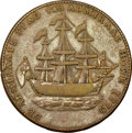 Colonials, 1778-1779 TOKEN Rhode Island Ship Token, Without Wreath, Copper, Betts-562, W-1730, R.3, VF30 NGC. ...