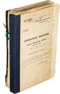 Military & Patriotic:WWII, D-Day: Complete Top Secret Naval Operation Orders for Operation Neptune Dated April 10, 1944....