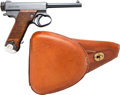 Handguns:Semiautomatic Pistol, Japanese Type 14 Nambu Semi-Automatic Pistol with Leather Holster.... (Total: 2 )