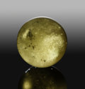Meteorites:Moldavite, Libyan Desert Glass Sphere. Libyan Desert Glass Area.Great Sand Sea. Western Desert, Egypt. ...