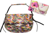 """Jimmy Choo Set of Two; Multicolor Python & Nylon Canvas Bags Very Good Condition 17"""" Width x 10"""" Height x..."""