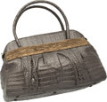 "Luxury Accessories:Bags, Nancy Gonzalez Metallic Pewter & Brass Crocodile Tote Bag. Very Good to Excellent Condition. 16"" Width x 11"" Height x ..."