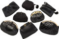 Luxury Accessories:Bags, Judith Leiber Set of Eight; Black Lizard, Karung Snakeskin, Ayers Snakeskin & Satin Evening Bags. Good to Very Good Condit... (Total: 8 Items)