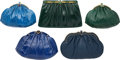 Luxury Accessories:Bags, Judith Leiber Set of Five; Blue & Green Ostrich, Ayers Snakeskin and Karung Snakeskin Evening Bags. Good to Very Good Cond... (Total: 5 Items)