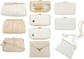 Luxury Accessories:Bags, Judith Leiber Set of Ten; White Enamel, Karung Snakeskin, Ayers Snakeskin, Satin & Leather Evening Bags. Good to Very Good... (Total: 10 Items)