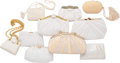 Luxury Accessories:Bags, Judith Leiber Set of Ten; White Satin, Karung Snakeskin, Crocodile, Ostrich & Glass Pearl Evening Bags. Good to Very Good ... (Total: 10 Items)