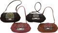 "Luxury Accessories:Bags, Prada Set of Four; Black, Brown & Red Leather Clutch Bags.Excellent Condition. 12"" Width x 6"" Height x 3"" Depth. 12""Widt... (Total: 4 )"