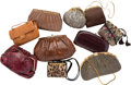Luxury Accessories:Bags, Judith Leiber Set of Ten; Multicolor Ayers Snakeskin, KarungSnakeskin, Leather, Satin & Faux Fur Evening Bags . VeryGood... (Total: 10 )