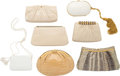 Luxury Accessories:Bags, Judith Leiber Set of Seven; White, Beige & Green Snakeskin, Crocodile & Ostrich Evening Bags. Good to Very Good Condition... (Total: 7 Items)