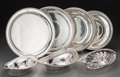 Silver Holloware, American:Other , Seven Various American Silver Bread Baskets and Trays, 20thcentury. Marks: (various). 11 inches diameter (27.9 cm) (largest...(Total: 7 Items)