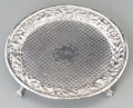 Silver Holloware, American:Trays, An American Baltimore-Region Footed Silver Salver, circa 1900. Marks: W.H. SAXTON. 0-7/8 inches high x 7-1/2 inches wide...