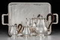 Silver Holloware, French:Holloware, A Four-Piece Christofle Malmaison-Beauharnais PatternSilver-Plated Coffee Service, Paris, late 20th century. Ma...(Total: 3 )
