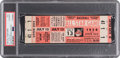 Baseball Collectibles:Tickets, 1954 All-Star Game Full Ticket, PSA Authentic....
