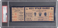 Baseball Collectibles:Tickets, 1936 All-Star Game Full Ticket, PSA/DNA Authentic. ...