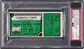 Baseball Collectibles:Tickets, 1933 All-Star Game Ticket Stub Green Variation, PSA Authentic. ...