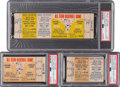 Baseball Collectibles:Tickets, 1964 All-Star Game Full Ticket & Two Stubs - Lot of 3. ...