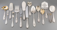 A One Hundred and Eighty-Eight Piece German Silver Flatware Service for Twelve in Fitted Oak Canteen, circa 1900 M