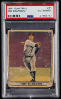 Baseball Cards:Singles (1940-1949), 1941 Play Ball Joe DiMaggio #71 PSA Authentic....