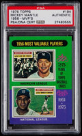Autographs:Sports Cards, Signed 1975 Topps Mickey Mantle 1956-MVP's #194 PSA/DNAAuthentic....