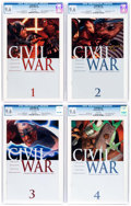 Modern Age (1980-Present):Superhero, Civil War #1-7 Complete Run CGC-Graded Group (Marvel, 2006-07) CGCNM+ 9.6 White pages.... (Total: 7 Comic Books)