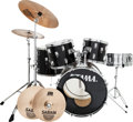 Musical Instruments:Drums & Percussion, Tama S Series Black Drum Set, Circa 1990s.... (Total: 10 )