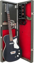 Musical Instruments:Electric Guitars, 1961 Silvertone 1457 Amp-in-Case Black Solid Body ElectricGuitar....