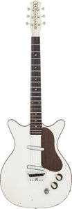 Musical Instruments:Electric Guitars, 1960 Danelectro DC2 White Solid Body Electric Guitar, #8040....