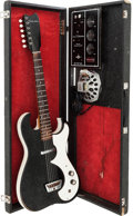 Musical Instruments:Amplifiers, PA, & Effects, Circa 1964 Silvertone 1448 Amp-in-Case Black GuitarAmplifier.S#18510010....