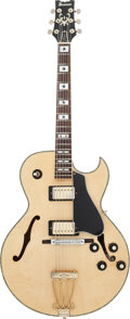 Musical Instruments:Electric Guitars, Circa 1980s Ibanez Artist Natural Archtop Electric Guitar, #H 765887....
