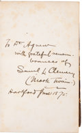 Books:Signed Editions, [Samuel Clemens]. Mark Twain: The Innocents Abroad....