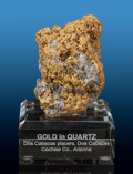 Minerals:Golds, Gold in Quartz. Dos Cabezas (Two Heads) District. Dos Cabezas Mts, Cochise Co.. Arizona, USA. ... (Total: 2 Items)