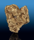"""Minerals:Golds, Gold """"Hoppered"""" Nugget. Klondike Area (Klondyke District; Klondike District). Dawson Mining District, Yukon. Canad..."""