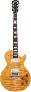 Musical Instruments:Electric Guitars, 1996 Gibson Les Paul Amber Solid Body Electric Guitar,#90626318....