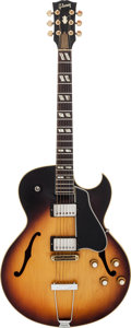 Musical Instruments:Electric Guitars, 1963 Gibson ES-175 Sunburst Archtop Electric Guitar, #132338....