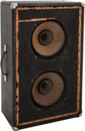 Musical Instruments:Amplifiers, PA, & Effects, Circa 1980s Traynor YT-12 Black Guitar Speaker Cabinet, #2666....