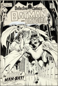 Original Comic Art:Covers, Neal Adams Detective Comics #407 Cover Man-Bat Original Art(DC, 1971)....