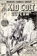 Original Comic Art:Covers, Gil Kane Kid Colt #216 Cover Original Art (Marvel, 1977)....