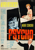 "Movie Posters:Hitchcock, Psycho (Paramount, 1960). Ful Bleed German A1 (23"" X 33""0) RolfGoetze Artwork.. ..."