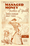 """Movie Posters:Comedy, Managed Money (Fox, 1934). One Sheet (27"""" X 41"""") AKA """"Frolics ofYouth."""". ..."""