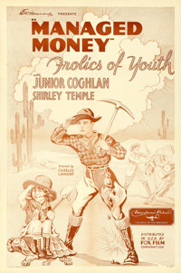 "Managed Money (Fox, 1934). One Sheet (27"" X 41"") AKA ""Frolics of Youth."""