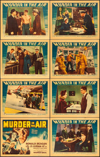 """Murder in the Air (Warner Brothers, 1940). Linen Finish Lobby Card Set of 8 (11"""" X 14""""). ... (Total: 8 Items)"""